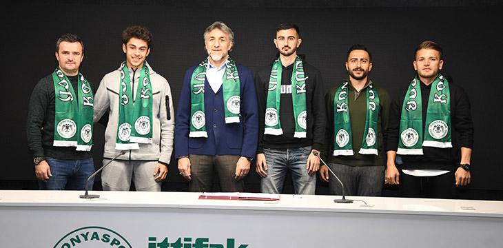 İttifak Holding Konyaspor'umuzda 3 oyuncuyla sözleşme imzalandı