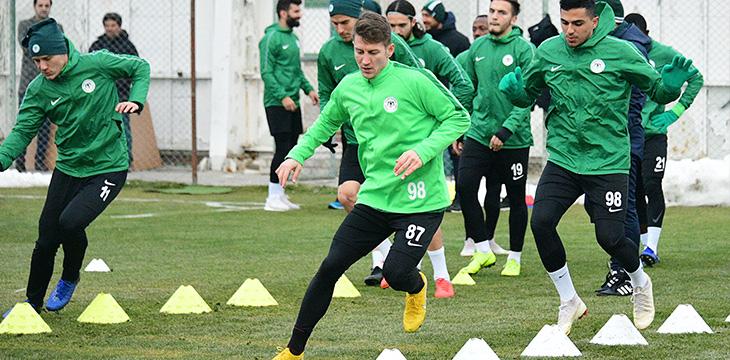 Atiker Konyaspor'umuz yapılan antrenmanla Antalyaspor maçı hazırlıklarını sürdürdü