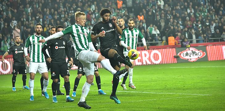 İttifak Holding Konyaspor'umuz Beşiktaş'a 1-0'lık skorla mağlup oldu