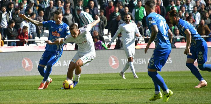 Atiker Konyaspor'umuz Ç.Rizespor'a 2-0 mağlup oldu