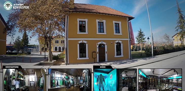 Konyastore ve Konyaspor Müzesi ziyaretçilerini bekliyor