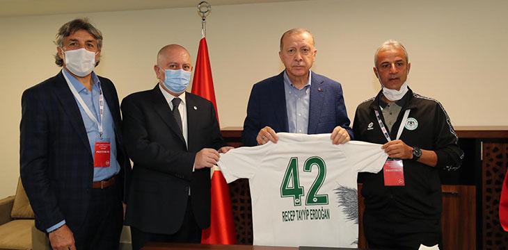 Cumhurbaşkanımız Recep Tayyip Erdoğan Başkanımız ve beraberindeki heyeti kabul etti