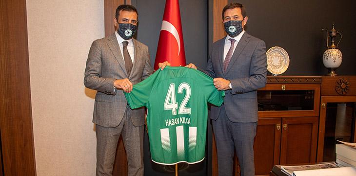 Yönetimimiz Karatay Belediye Başkanı Hasan Kılca'yı ziyaret etti