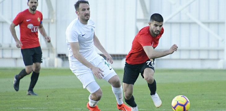 Atiker Konyaspor'umuz özel maçta Eskişehirspor ile 1-1 berabere kaldı