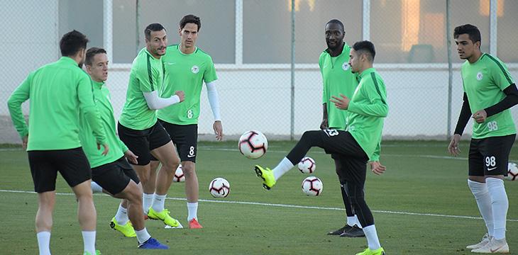 Atiker Konyaspor'umuzda DG Sivasspor maçı hazırlıkları devam etti