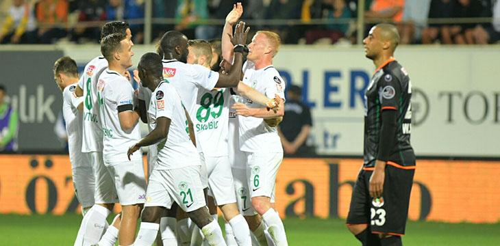 Atiker Konyaspor'umuz Alanya deplasmanından 4-2'lik galibiyetle dönüyor