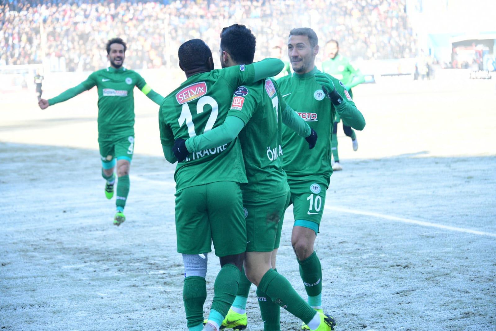 İkinci devreye deplasmanda aldığımız B.B.Erzurumspor galibiyetiyle başladık