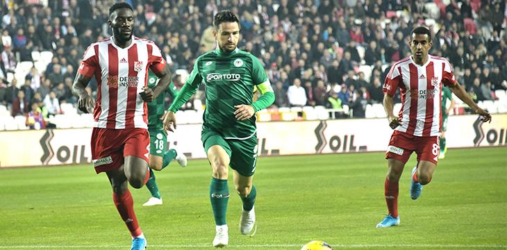 İttifak Holding Konyaspor'umuz deplasmanda DG Sivasspor'a 2-0 kaybetti