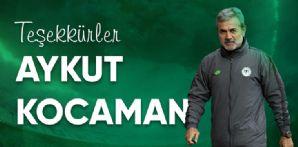 Teknik Direktörümüz Aykut Kocaman'a Teşekkür Ederiz