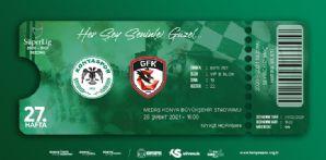 Gaziantep FK Maçı İçin Hatıra Biletler Satışta