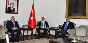 Konya Valisi Cüneyit Orhan Toprak'ı ziyaret ettik